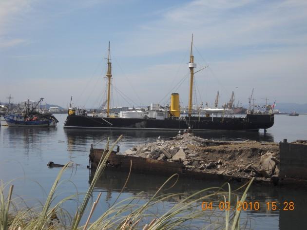 El Monitor Huáscar sigue vigilando la bahía de Talcahuano | Jaime Rubilar