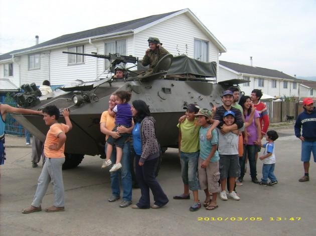 Protección militar llega a Coronel | Leesly Leal
