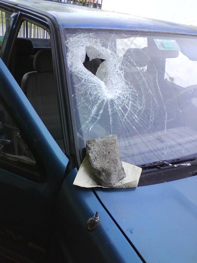 Piedra y ataque a vehículo en Concepción | Mónica Reyes