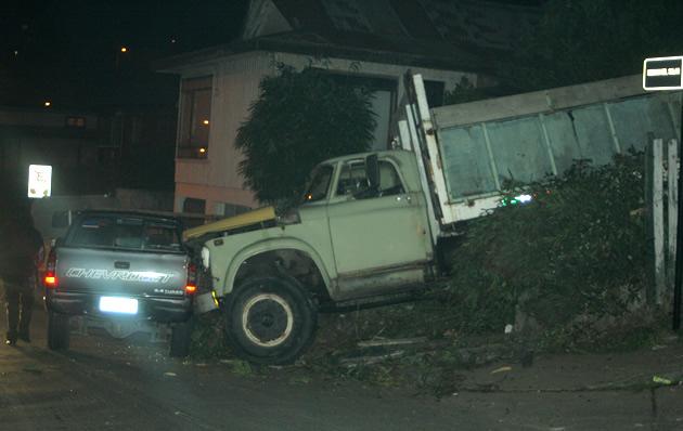 Accidente de camión en Santa Sabina | Diego Bustamante