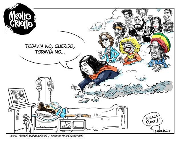 Gustavo Cerati se encuentra en estado de rehabilitación