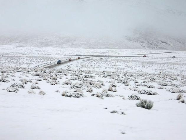 Fuertes nevazones en Collahuasi