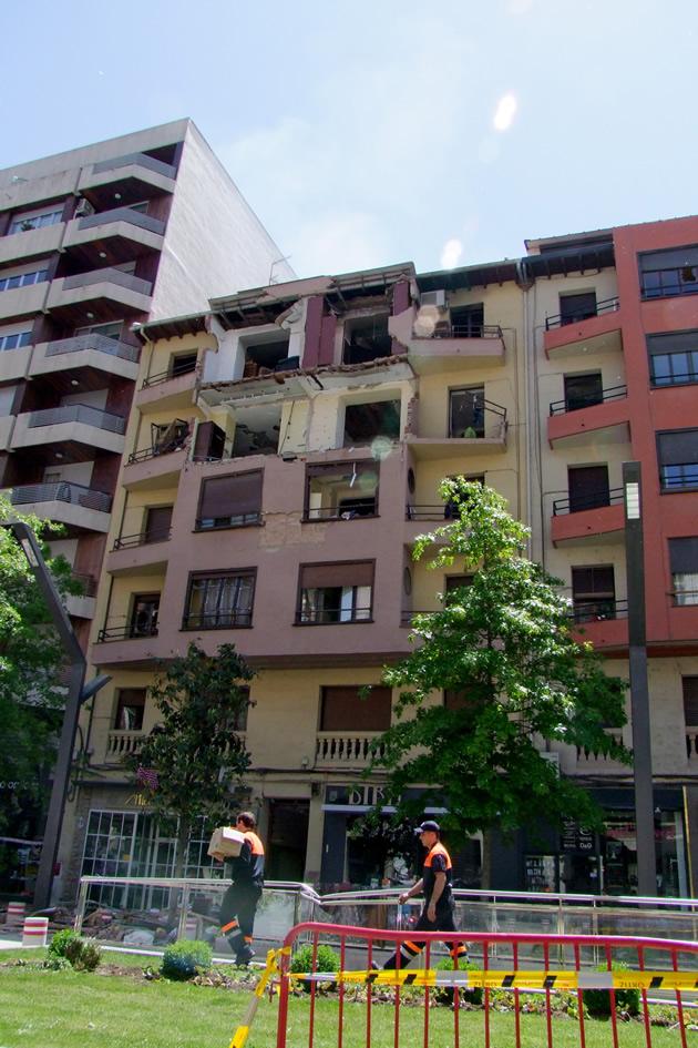 Edificio destruido en Logroño | Juan Martínez Menchaca