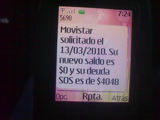 Descuento por recarga no solicitada de Movistar | Mané Rodriguez