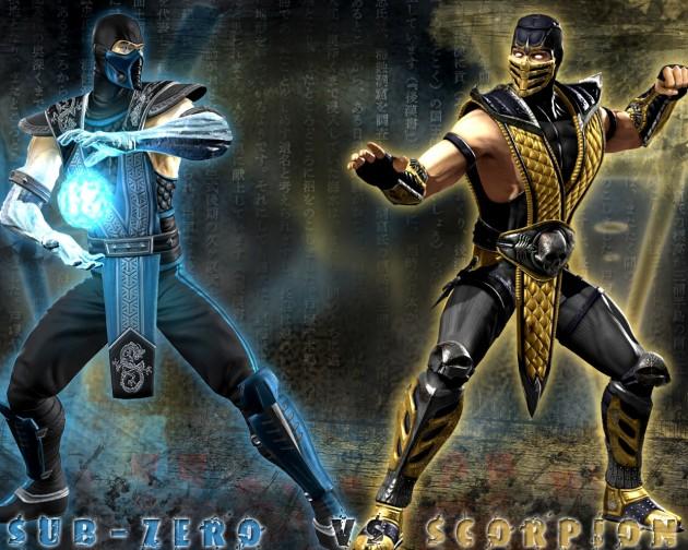 sub zero vs scorpion mortal kombat. sub zero vs scorpion mortal