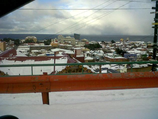 Punta Arenas nevado   Iván Stenger