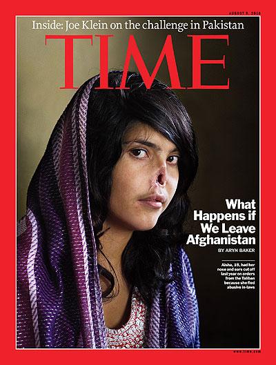 Aisha en la portada de Time