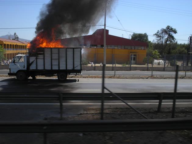 Camión incendiándose en Coquimbo | Marco Olate