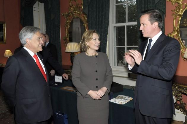 Piñera, Morel y Cameron