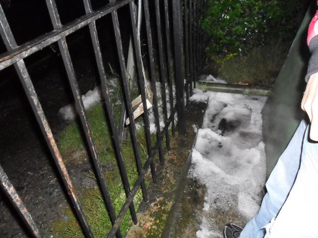 Granizos en Lebu | Claudio Sanhueza