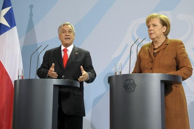 Piñera y Merkel