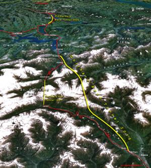 Recorrido del túnel | Wikipedia