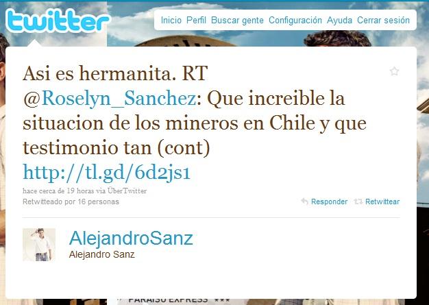 Alejandro Sanz en Twitter