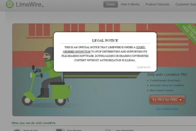 Aviso legal en LimeWire | elmundo.es