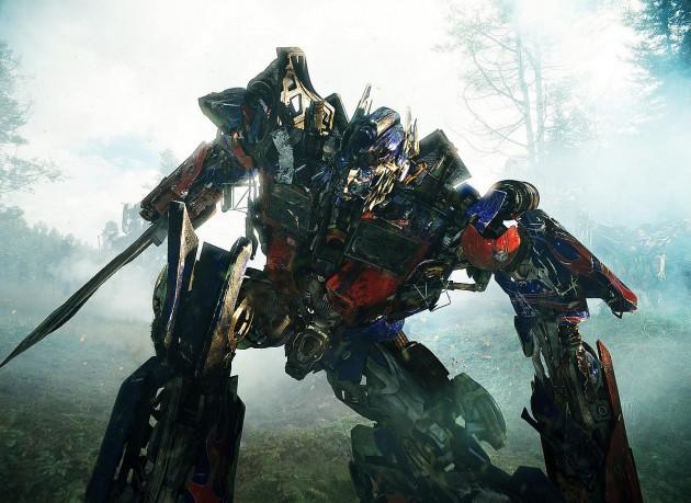 Escena de Optimus Prime en Transformers
