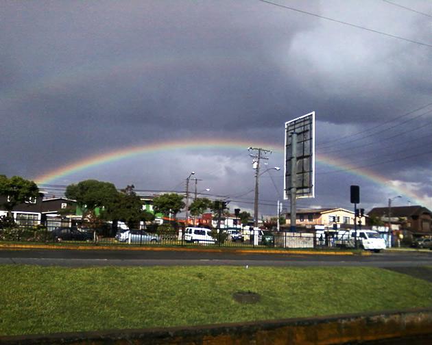 Hermoso arcoiris sobre Talcahuano | Cristian Salgado