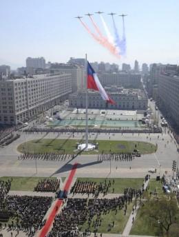 Izamiento de la Gran Bandera Chilena