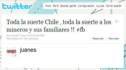 Juanes en Twitter