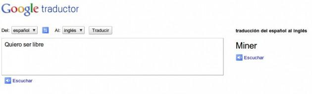 La búsqueda en el Traductor de Google