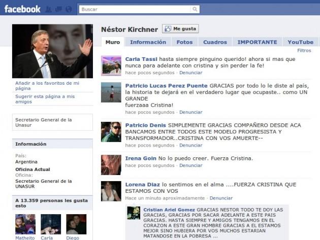 Néstor Kirchner en Facebook