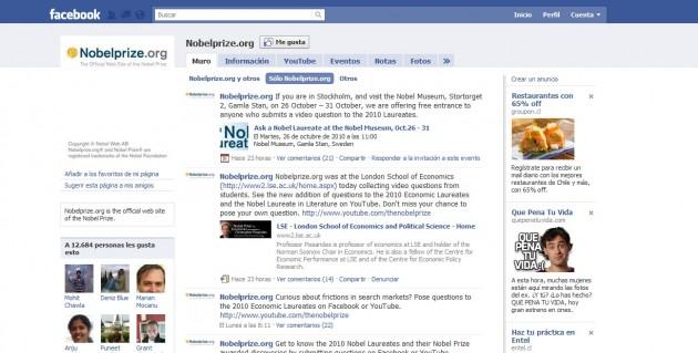 Pregunta a los Nobel en Facebook