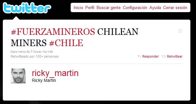 Ricky Martin en Twitter