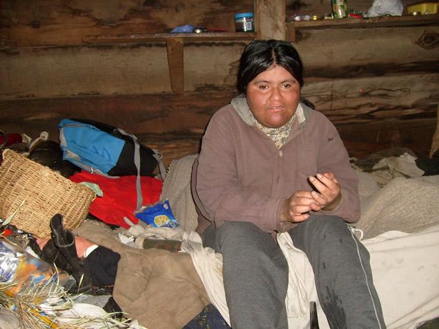 Nieta de la familia Cayuqueo | Foto: Mauricio Alarcón