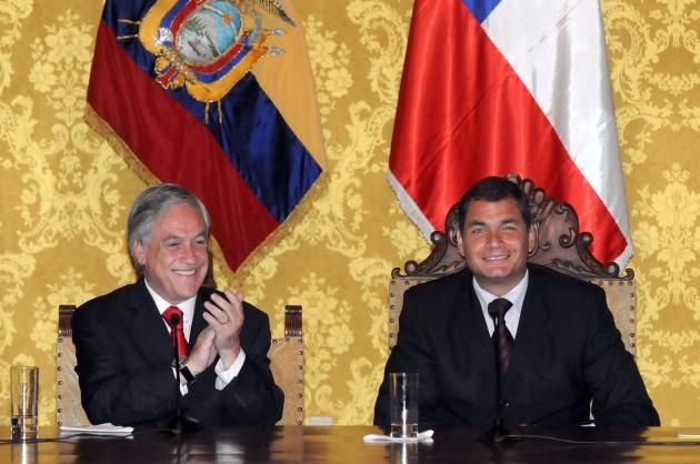 Sebastián Piñera y Rafael Correa | fotopresidencia.cl