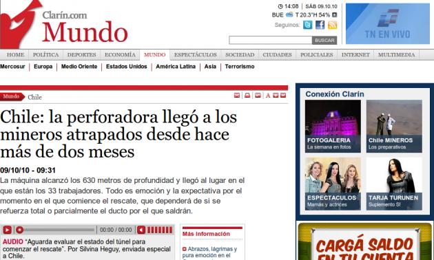 Diario El Clarín de Argentina