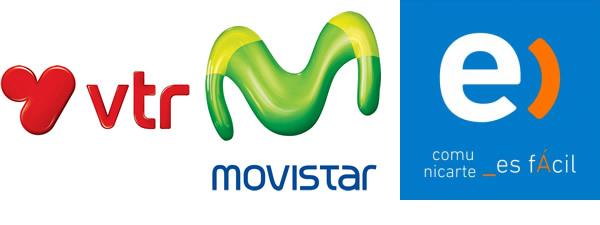 VTR, Movistar, Entel