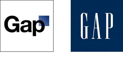 El nuevo logo y el viejo-nuevo logo de GAP