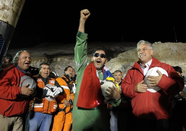 Rescate de Luis Urzúa | Fotopresidencia.cl