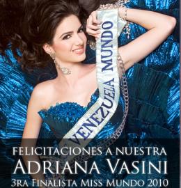 Miss mundo Venezuela quedó en tercer lugar | www.missvenezuela.com