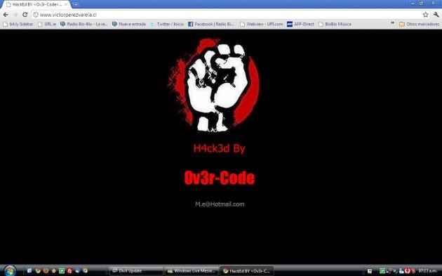 Página web del senador Víctor Pérez hackeada