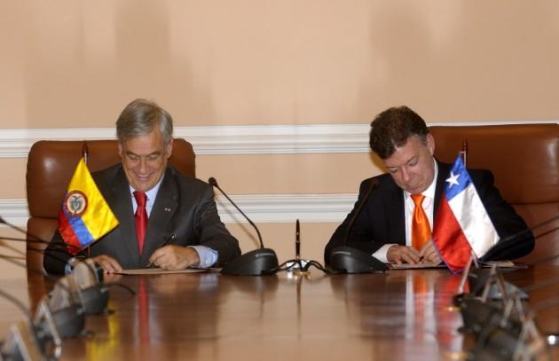 Piñera en Colombia