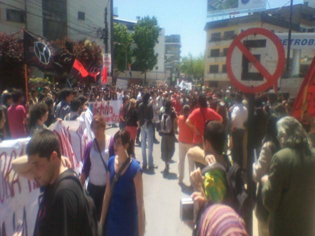 Marcha de Historia en Concepción / Francisco Córdova