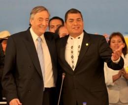 Kirchner y Correa en reunión de mayo de la Unasur / Unasur