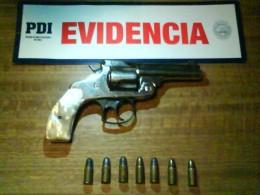 Arma incautada al sujeto
