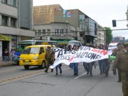 Marcha en el centro de Concepción
