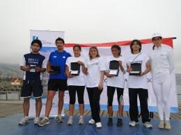 Directora de Sernam y ganadores de la corrida