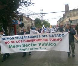 Marcha ANEF en Valdivia