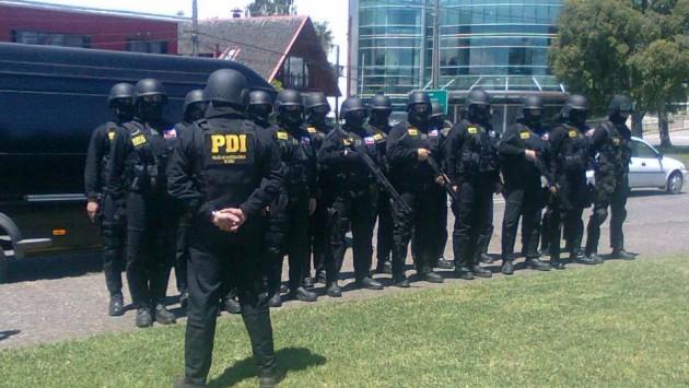 ERTA de la PDI en Valdivia / K. Maldonado