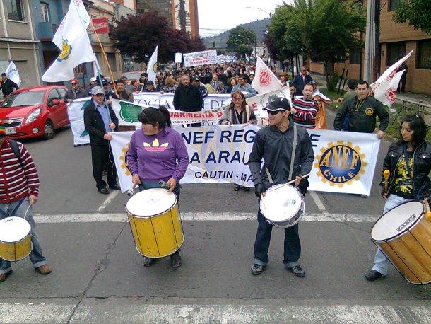 Marcha ANEF en Temuco / Hugo Oviedo