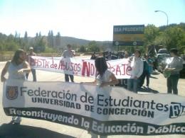 Protesta en peaje Chaimávida