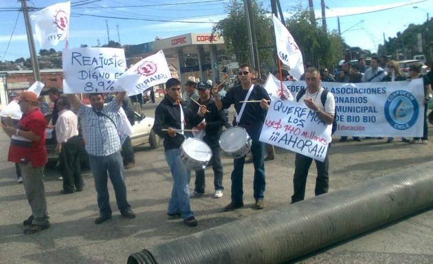 Protesta en Talcahuano / R.Cáceres