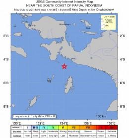 Mapa del sismo | USGS