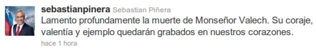 Sebastián Piñera en Twitter