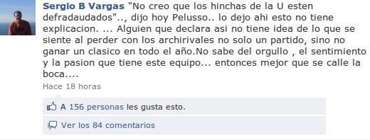 Sergio Vargas en Facebook