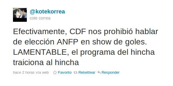 Cote Correa en Twitter