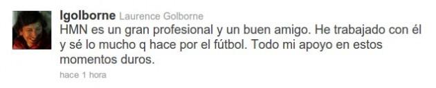 Twitter del ministro Golborne
